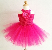 Hot Pink Crochet Tutu Dress