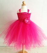 Lg. Hot Pink Crochet Tutu Dress