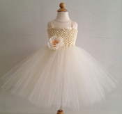 Lg. Ivory Crochet Tutu Dress