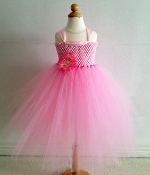 Lg. Pink Crochet Tutu Dress