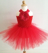 Red Crochet Tutu Dress
