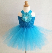 Turquoize Crochet Tutu Dress