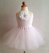 White Crochet Tutu Dress