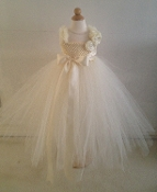 Ivory Crochet Deluxe Tulle Gown