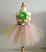 Rainbow Crochet Tutu Dress