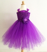 Purple Crochet Tutu Dress Detail