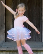 Rufflebutts Short Sleeve Pink & White Tutu Leotard