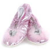 Great Pretenders Pink Sparkle Princess Slippers, L