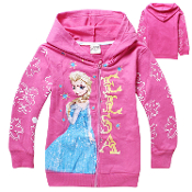 Princess Elsa Hooded Sweatshirt w/Zipper