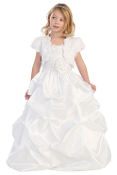 Girls Lace Satin Dress with Bolero,communion mississauga,communion dress mississauga,communion dress canada,communion dress ,veil,communion veil