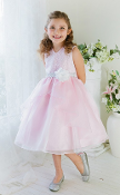 Girls Organza Dress with Lace Top/Flower,communion mississauga,communion dress mississauga,communion dress canada,communion dress ,veil,communion veil