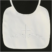 Embroidered cotton bib