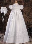 "Baptism/Christening gown-32"" GIRL'S COTTON GOWN"