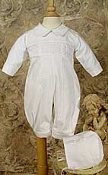 Boys Cotton Smocked Romper