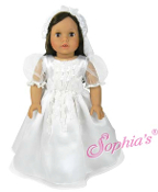 "18"" Doll  White Communion Dress/Headband w/Veil"