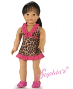 "18"" Doll Leopard Print Cover Dress"