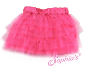 "18"" Doll Hot Pink Tulle Tiered Skirt"