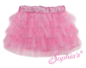 "18"" Doll Pink Tulle Tiered Skirt"