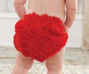 Mudpie Red Rosette Bloomer