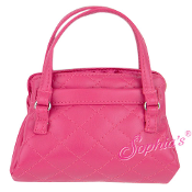 "18"" Doll Hot Pink Leather Purse"