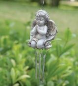 Ivory Garden Angel Windchime