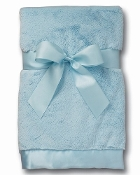 Bearington Baby Silky Soft Crib Blanket Blue