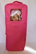 "18"" Doll Pink Travel Case w/Foldable Bed"