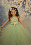 Mint Green Deluxe Tulle Gown 5 Layer