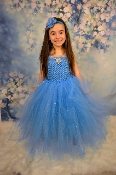 Turquoize Elsa Deluxe Tulle Gown 5 Layer