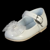 Infant Girls White Shoe w/Bow