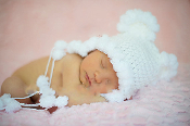 Ivory Knit Baby Bear Hat
