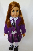 "18"" Doll Purple School Girl Uniform"