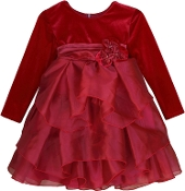 Isobella & Chloe Red Ruby Kiss Long Sleeve Empire waist Dress