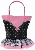 Tutu Cute Polka Dots w/Striped Skirt Bag