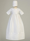 "Poly cotton pintuck gown (Boy & Girl) ""Riley"""