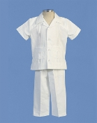 Boys 2pc Linen Shirt and Pant Set