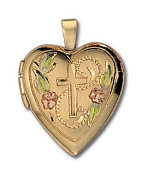Gold Plated Heart Locket on 18in Chain