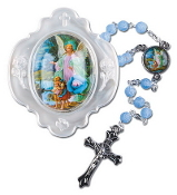Guardian Angel Rosary with Case