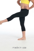 Kids Dance Capri Leggings Black