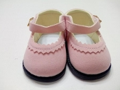 "18"" Doll Pink Suede Doll Shoes"