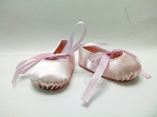 "18"" Doll Pink Hard Toe Ballet Shoes"