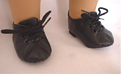 "18"" Doll Black Jazz Shoes"