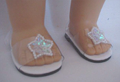 "18"" Doll Ice Queen Shoes"