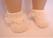 "18"" Doll Ivory Ankle Socks"