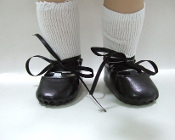 "18"" Doll Black Irish Dancing Shoes"