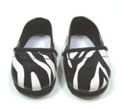 "18"" Doll Zebra Print Loafers"