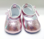 "18"" Doll Metalic Pink Mary Janes"