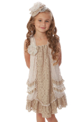 Isobella and Chloe Latte Love Dress