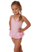 Isobella and Chloe Pink Peony Swimsuit