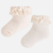 Mayoral Baby girl socks with ruffles and lace